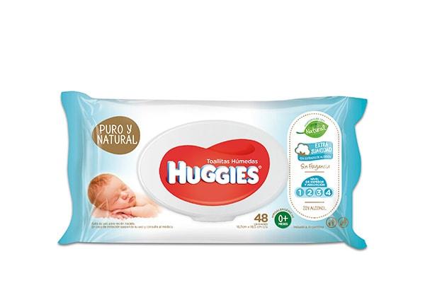 Huggies Toallas humedas Puro y Natural 48 unidades