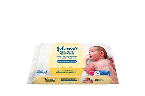 Johnson´s Baby Toallas Humedas Recien Nacido 48 unidades