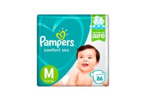 Pañales Pampers Confort Sec M