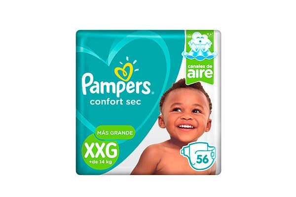 Pañales Pampers Confort Sec XXG
